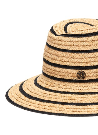Detail View - Click To Enlarge - MAISON MICHEL - Kate straw mix fedora hat