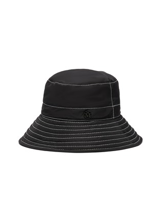 Main View - Click To Enlarge - MAISON MICHEL - 'Charlotte' topstitched nylon bucket hat