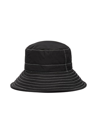 Figure View - Click To Enlarge - MAISON MICHEL - 'Charlotte' topstitched nylon bucket hat