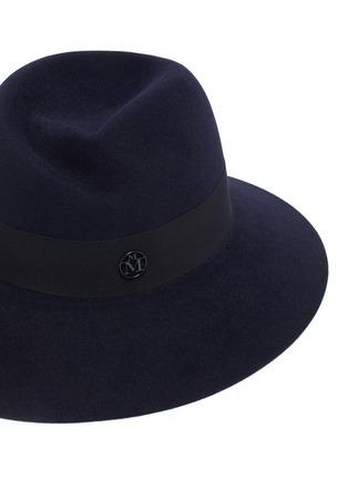 Detail View - Click To Enlarge - MAISON MICHEL - Virginie ribbon felt fedora hat