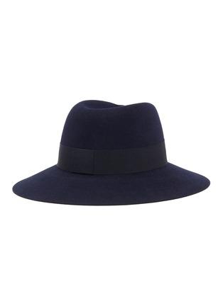 Figure View - Click To Enlarge - MAISON MICHEL - Virginie ribbon felt fedora hat
