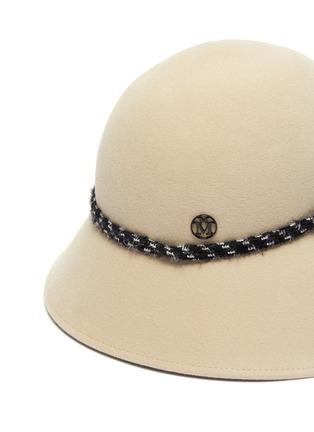 Detail View - Click To Enlarge - MAISON MICHEL - Julianne band asymmetrical brim felt bucket hat