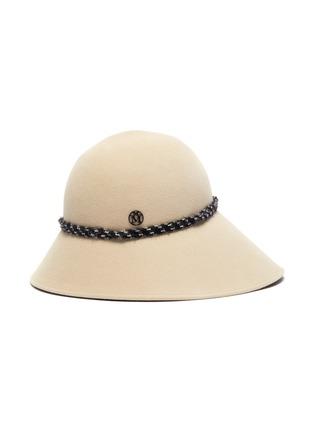 Main View - Click To Enlarge - MAISON MICHEL - Julianne band asymmetrical brim felt bucket hat