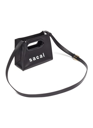 Detail View - Click To Enlarge - SACAI - Logo print micro new shopping bag