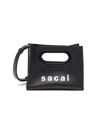 Main View - Click To Enlarge - SACAI - Logo print micro new shopping bag
