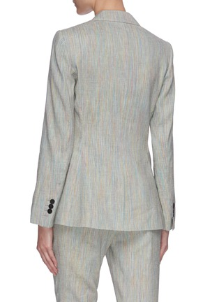 Back View - Click To Enlarge - THEORY - 'Staple' single button tailored linen blend blazer