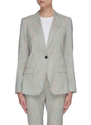 Main View - Click To Enlarge - THEORY - 'Staple' single button tailored linen blend blazer