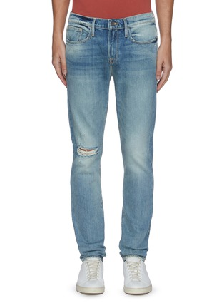 Main View - Click To Enlarge - FRAME DENIM - L'Homme Shelter ripped knee jeans