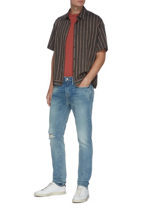 Figure View - Click To Enlarge - FRAME DENIM - L'Homme Shelter ripped knee jeans