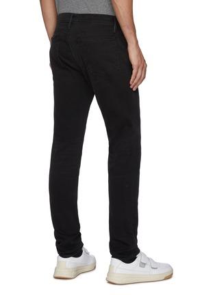 Back View - Click To Enlarge - FRAME DENIM - 'L'Homme' dark wash ripped knee skinny jeans