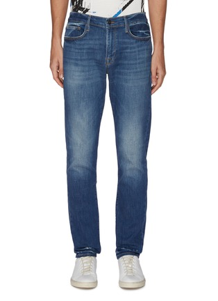 Main View - Click To Enlarge - FRAME DENIM - 'L'homme Athletic' dark wash slim fit jeans