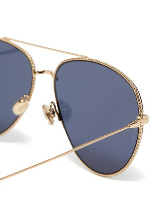 Detail View - Click To Enlarge - DIOR - DiorSociety3 metal frame aviator sunglasses