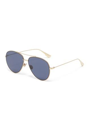 Main View - Click To Enlarge - DIOR - DiorSociety3 metal frame aviator sunglasses