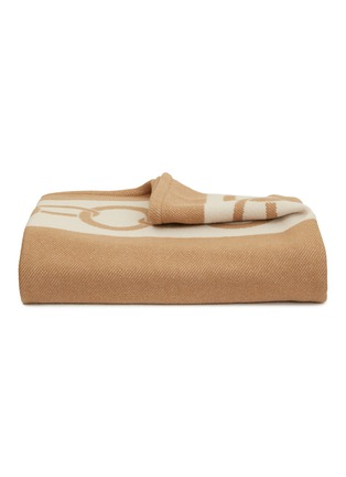 Main View - Click To Enlarge - FRETTE - Chains cashmere throw – Milk/Camel