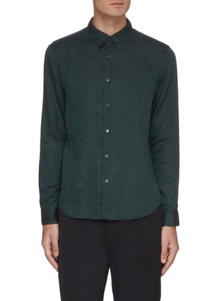 Main View - Click To Enlarge - THEORY - 'Irving' button up linen shirt
