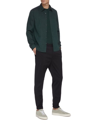 Figure View - Click To Enlarge - THEORY - 'Irving' button up linen shirt