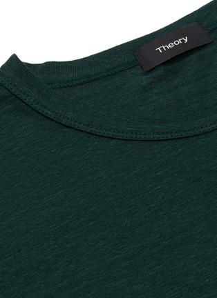- THEORY - 'Essential' crewneck linen T-shirt