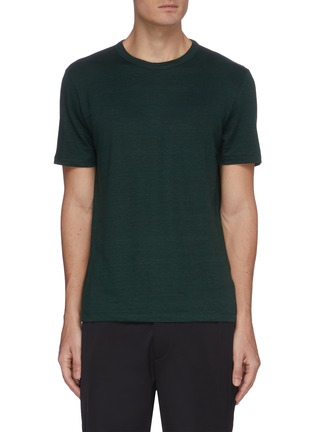 Main View - Click To Enlarge - THEORY - 'Essential' crewneck linen T-shirt