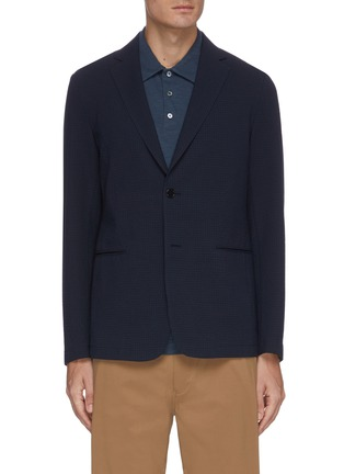 Main View - Click To Enlarge - THEORY - Clinton' seersucker dimension checked blazer