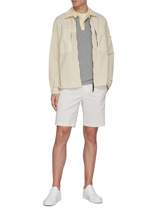 Figure View - Click To Enlarge - THEORY - 'Zaine' stripe chino shorts