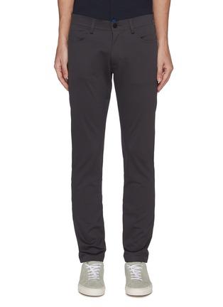 Main View - Click To Enlarge - THEORY - 'Tech Raffi' cotton blend pants
