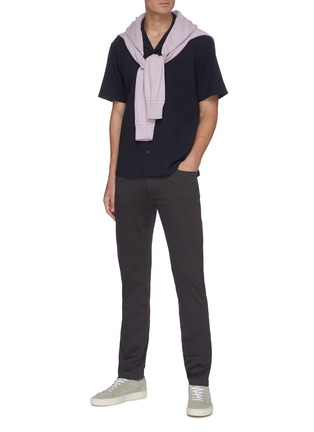 Figure View - Click To Enlarge - THEORY - 'Tech Raffi' cotton blend pants