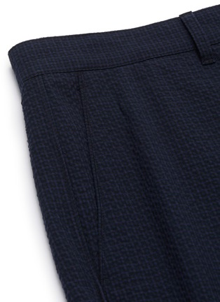 - THEORY - 'Curtis' seersucker check cotton blend suiting pants
