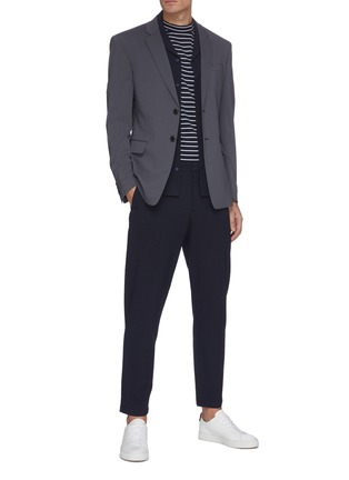 Figure View - Click To Enlarge - THEORY - 'Curtis' seersucker check cotton blend suiting pants