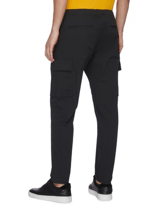 Back View - Click To Enlarge - THEORY - 'Wilmar' drawstring waist cargo poplin pants