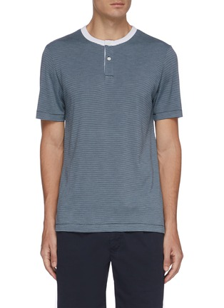 Main View - Click To Enlarge - THEORY - Gaskell striped henley T-shirt