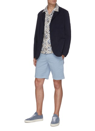 Figure View - Click To Enlarge - THEORY - 'Zaine' Patton dyed cotton shorts