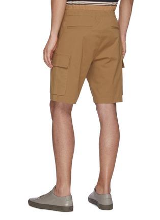 Back View - Click To Enlarge - THEORY - 'Wilmar' drawstring waist cargo poplin shorts