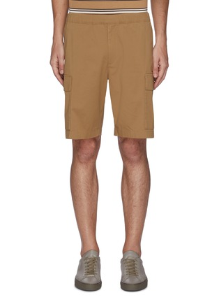 Main View - Click To Enlarge - THEORY - 'Wilmar' drawstring waist cargo poplin shorts