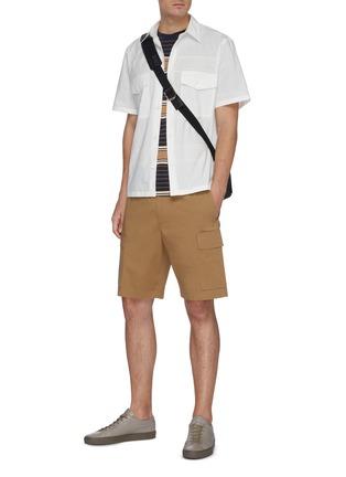 Figure View - Click To Enlarge - THEORY - 'Wilmar' drawstring waist cargo poplin shorts