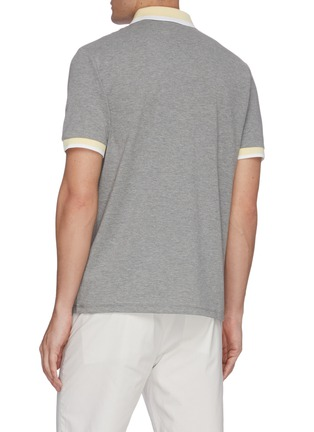Back View - Click To Enlarge - THEORY - Contrast trim cotton polo shirt