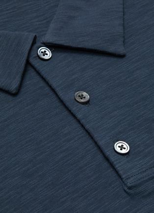 - THEORY - Cotton slub polo shirt
