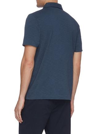 Back View - Click To Enlarge - THEORY - Cotton slub polo shirt