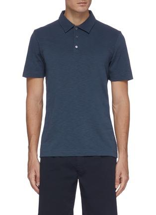 Main View - Click To Enlarge - THEORY - Cotton slub polo shirt