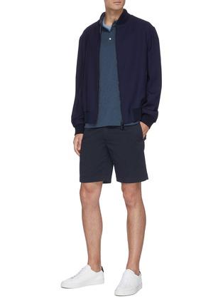 Figure View - Click To Enlarge - THEORY - Cotton slub polo shirt