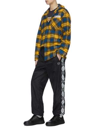 Figure View - Click To Enlarge - ACNE STUDIOS - Face motif stripe track pants