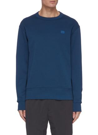 Main View - Click To Enlarge - ACNE STUDIOS - Face patch cotton sweatshirt