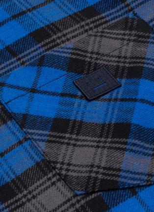 - ACNE STUDIOS - Check print face patch pocket flannel shirt