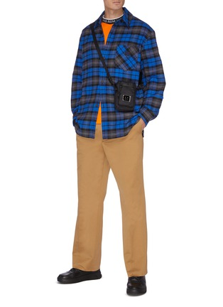 Figure View - Click To Enlarge - ACNE STUDIOS - Check print face patch pocket flannel shirt