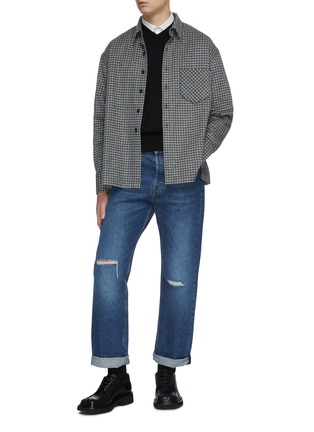 Figure View - Click To Enlarge - KARMUEL YOUNG - Square fit virgin wool overshirt
