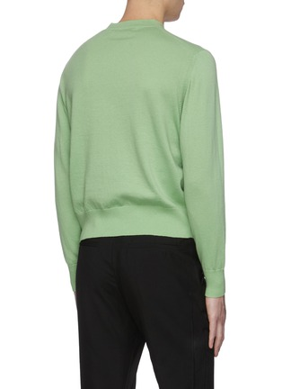 Back View - Click To Enlarge - KARMUEL YOUNG - Mock V neck merino wool sweater