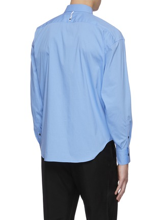 Back View - Click To Enlarge - KARMUEL YOUNG - Trapezium fit cotton blend shirt