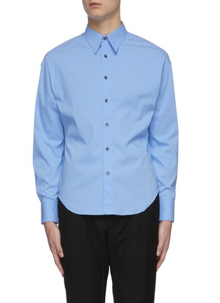 Main View - Click To Enlarge - KARMUEL YOUNG - Trapezium fit cotton blend shirt