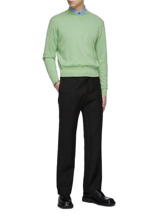 Figure View - Click To Enlarge - KARMUEL YOUNG - Trapezium fit cotton blend shirt