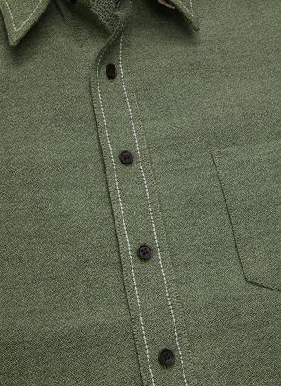 - KARMUEL YOUNG - Cuboid wool blend overshirt