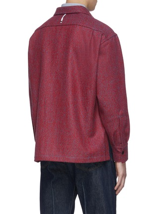 Back View - Click To Enlarge - KARMUEL YOUNG - Square fit virgin wool overshirt